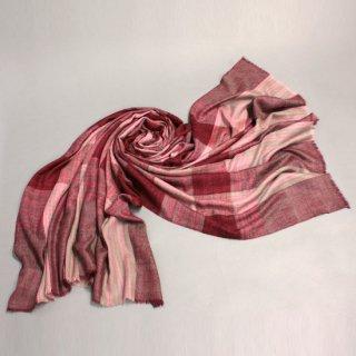 S-PN0392_0251_RED【Premium】カシミヤ 手織りストール レッド