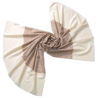 S-PN0495_0211_BROWN カシミヤ 手織りストール
