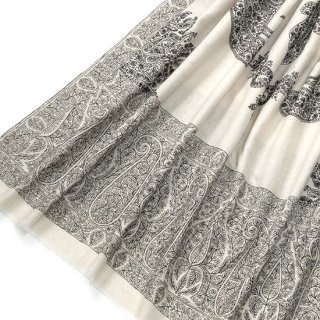 S-PN0631_0271_WHITE 手織り カシミヤ ニードル手刺繍ショール