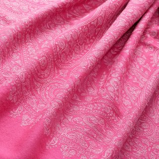 S-PN0451_0034_FUSIA PINK 【★15周年特別企画★対象商品】手織り カシミヤ ニードル手刺繍ショール