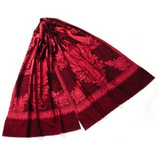 S-PN0533_0211_BROWN 【★15周年特別企画★対象商品】手織り カシミヤ ニードル手刺繍ショール