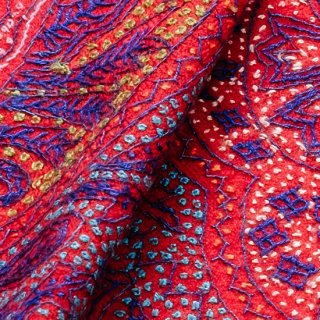 S-PN0562_0251_RED 【★15周年特別企画★対象商品】手織り カシミヤ ニードル手刺繍ショール