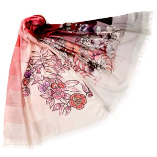 S-WTPA0024_0033_DARK PINK ウール・シルク プリント&アリー手刺繍ストール
