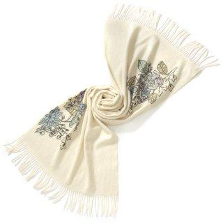 S-PA0082_0271_WHITE 厚手カシミヤストール アリー手刺繍