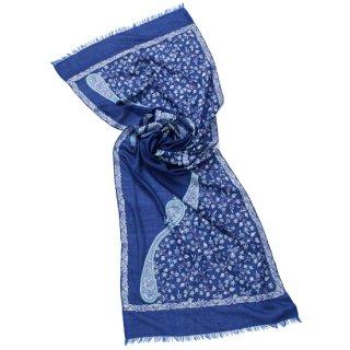S-WTA8008_S-WTA0210_0003_DARK BLUE フラワー&ペイズリーモチーフ 薄手ウール・シルク アリー手刺繍ストール