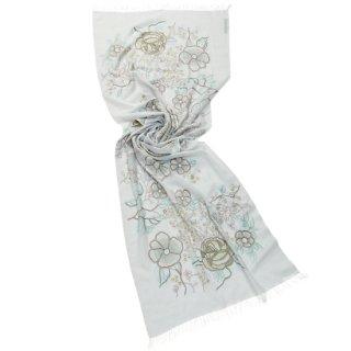 S-WTA9008_0092_LIGHT GRAY ウール・シルク アリー手刺繍ストール