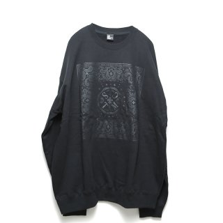 [TMCS] BANDANA BIG SWEAT (BLACK)