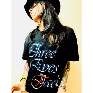 [gobadbrain] THREE EYES FACKロゴTシャツ