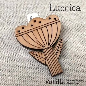 Luccica ウッドお花ブローチ(3つ花)