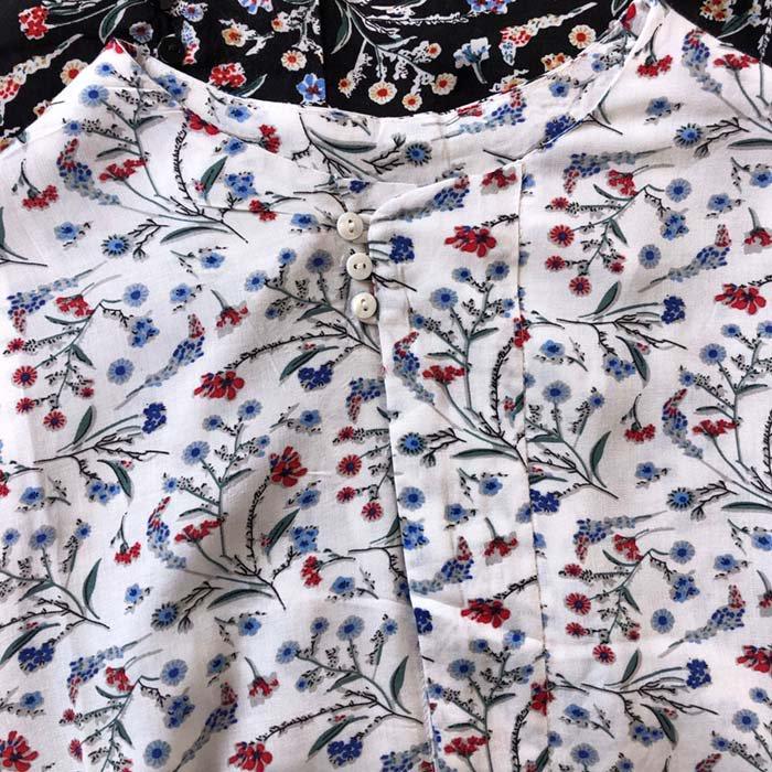 PUTI PRICE 小花柄6分袖レーヨンチュニック サブイメージ