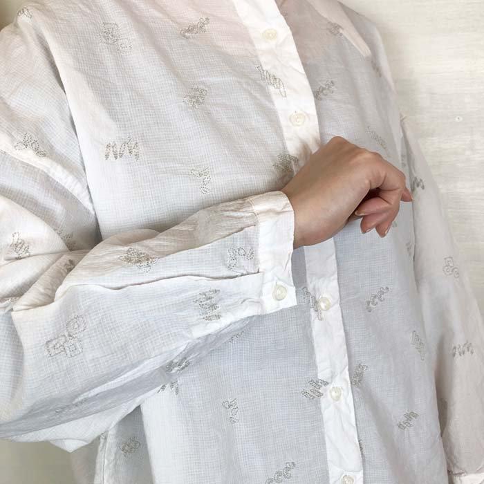 SUN VALLEY パスタ柄刺繍ドルマンブラウス サブイメージ