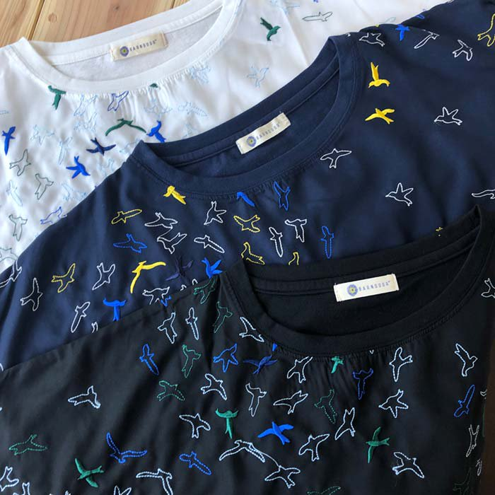 BARNDOOR サークル鳥刺繍異素材プルオーバーTシャツ サブイメージ