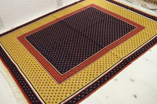 コンヤ キリム 198X153cm ウール100% トルコ製 [商品番号 5221]