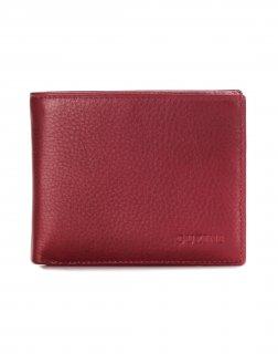 トルコ レザー 財布 レッド 牛革100% 1555