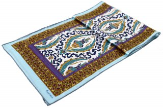 トルコ製 オリジナルシルクスカーフ シルク100% ーID S104−3