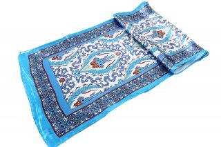 トルコ製 オリジナルシルクスカーフ シルク100% ーID S104−7