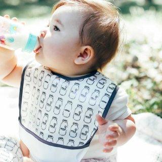 ミニミニエプロン ミルク瓶柄