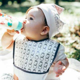 角帽子 ミルク瓶柄ピンク