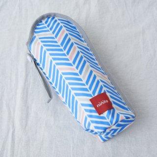 【Redline】哺乳瓶ケース オックス幾何ヘリンボン柄グレー