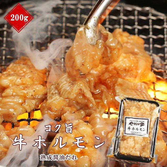 やまなか家コク旨牛ホルモン【熟成醤油だれ】200g(K2-009)