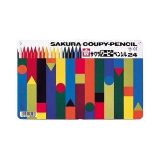 サクラクレパス クーピーペンシル24色 FY24