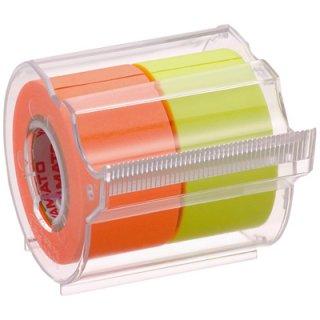 ヤマト メモックロールテープカッター付 2巻入り 25mm×10m レモン&オレンジ