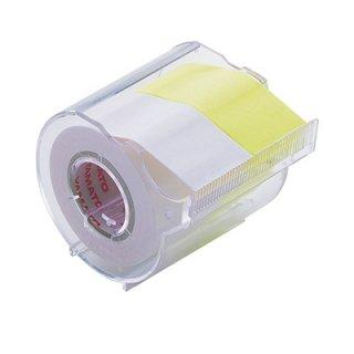 ヤマト メモックロールテープカッター付 2巻入り 25mm×10m 白&レモン