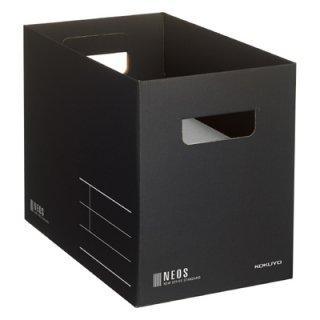コクヨ NEOS ネオス 収納ボックス Mサイズ ブラック A4-NEMB-D