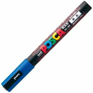 三菱鉛筆 POSCA ポスカ 細字 青 PC-3M.33