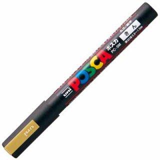 三菱鉛筆 POSCA ポスカ 細字 金 PC-3M.25