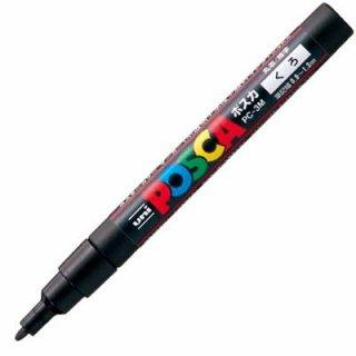 三菱鉛筆 POSCA ポスカ 細字 黒 PC-3M.24