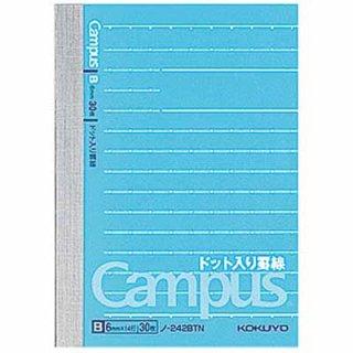 コクヨ キャンパスノート (ドット入り罫線)B罫 A7変形 罫幅6mm 14行 30枚 ノ-242BTN
