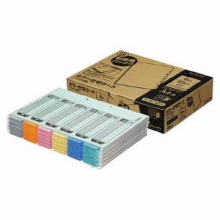 コクヨ カラー仕切カード(ファイル用)徳用パック A4縦 6山見出し 1穴 50組入り シキ-120