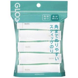 コクヨ GLOO グルー スティックのり 色が消える S 5本パック タ-G311-5P