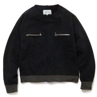 ZIP pocket sweat jummper(black)