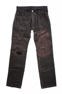 damaged cord trousers