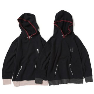 <img class='new_mark_img1' src='https://img.shop-pro.jp/img/new/icons1.gif' style='border:none;display:inline;margin:0px;padding:0px;width:auto;' />pile rib sweat parka(black×pink)
