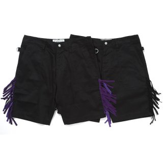 fringe army shorts(black×black)
