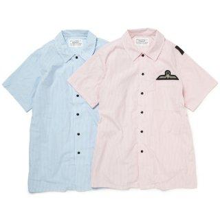 flat collar shirt(blue)