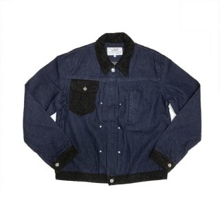 <img class='new_mark_img1' src='https://img.shop-pro.jp/img/new/icons40.gif' style='border:none;display:inline;margin:0px;padding:0px;width:auto;' />tweed collar jean jacket