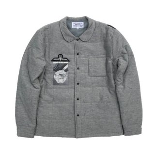 quilted shirt jacket(Marx:R)