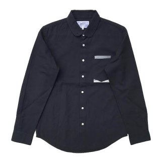 pinned collar shirt