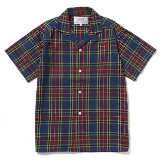 tartan open collar shirt