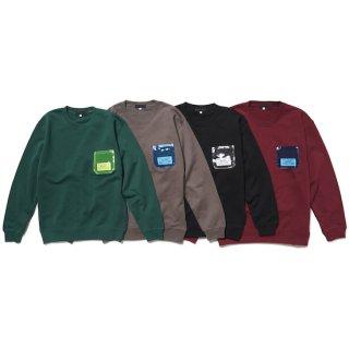 P.V.C pocket sweat jumper