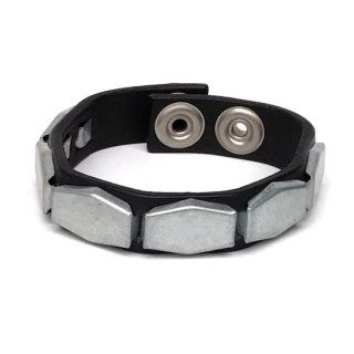 long hex studs wristband