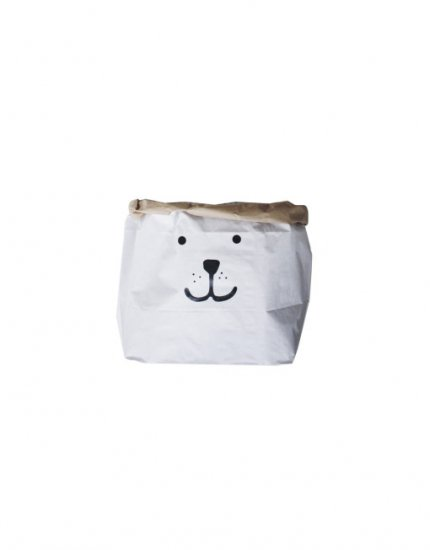 TELLKIDDO テルキッド Bear small paper bag storage of toys books or teddy bears ベアー スモール紙袋