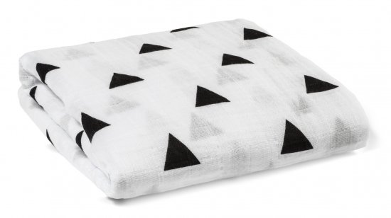 Modern Burlap モダンバーラップ Organic Cotton Muslin Swaddle Blanket-TRIANGLES 三角