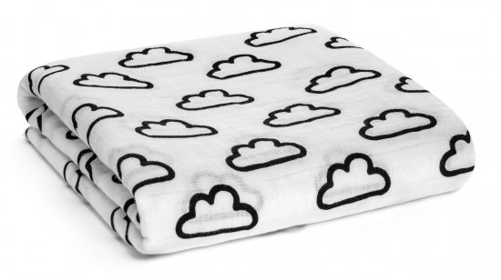 Modern Burlap モダンバーラップ Organic Cotton Muslin Swaddle-Clouds 雲