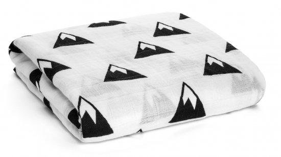 Modern Burlap モダンバーラップOrganic Cotton Muslin Swaddle-Mountains 山
