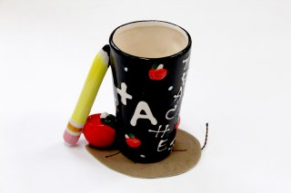 Teacher Mug With Pencil Handole